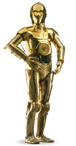 """C-3PO droid"" by Source (WP:NFCC#4). Licensed under Fair use of copyrighted material in the context of C-3PO"">Fair use via Wikipedia."